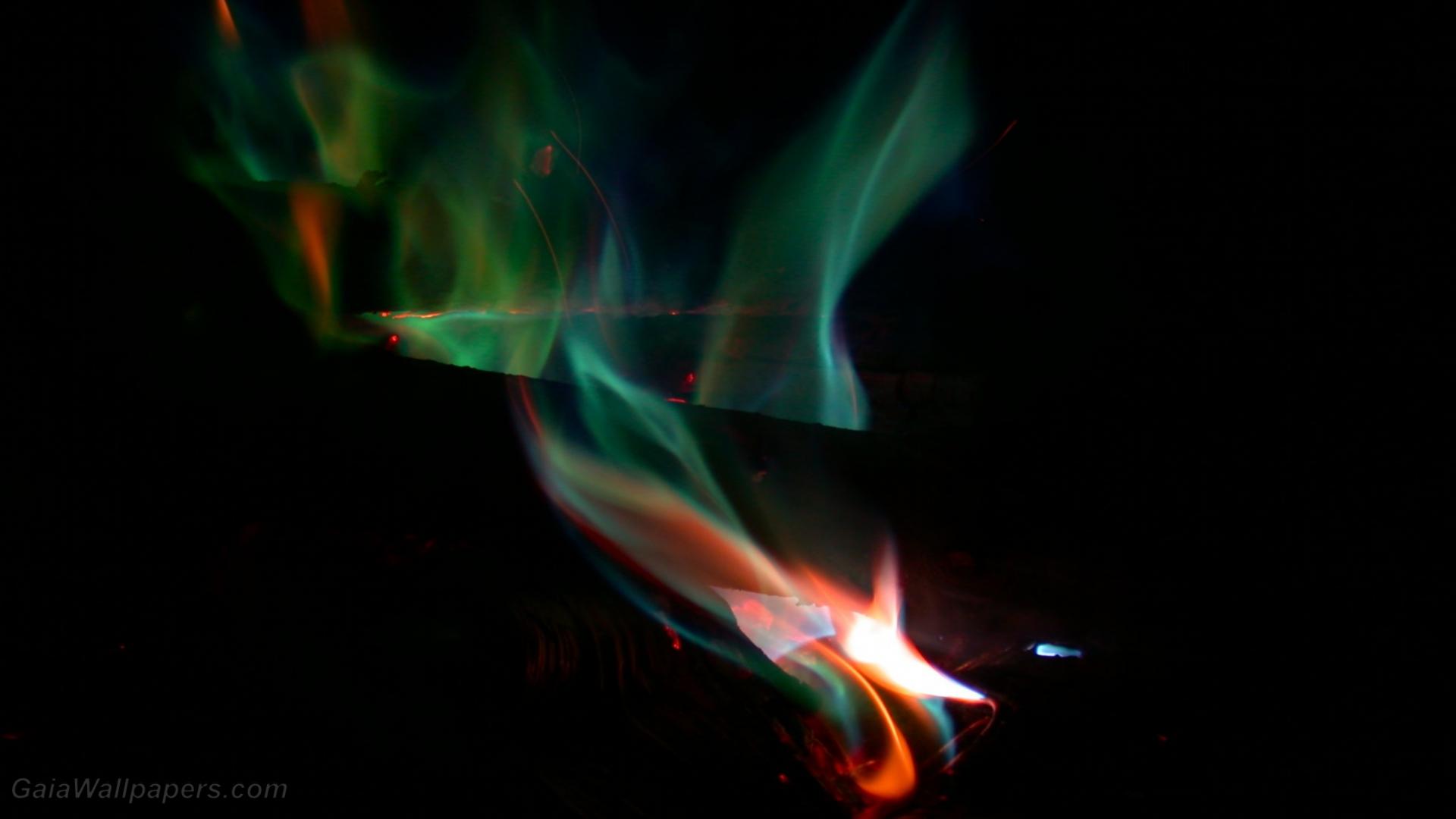 Free Desktop Wallpaper Fire: Green Fire Wallpapers 1920x1080