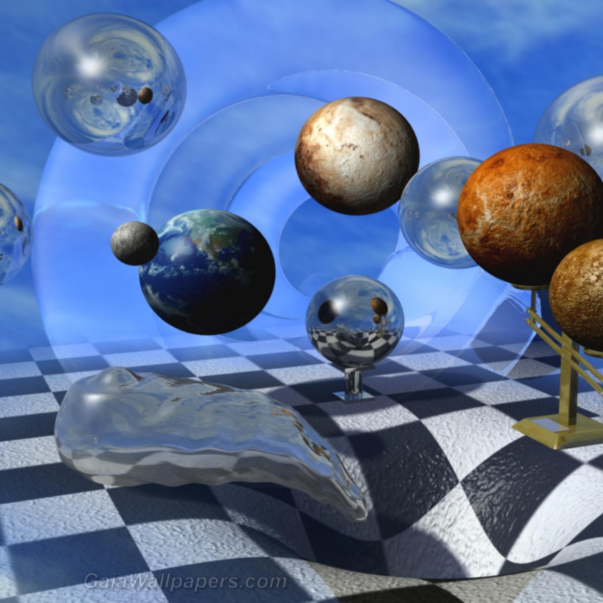 Digital universe aspired in black hole - Free desktop wallpapers