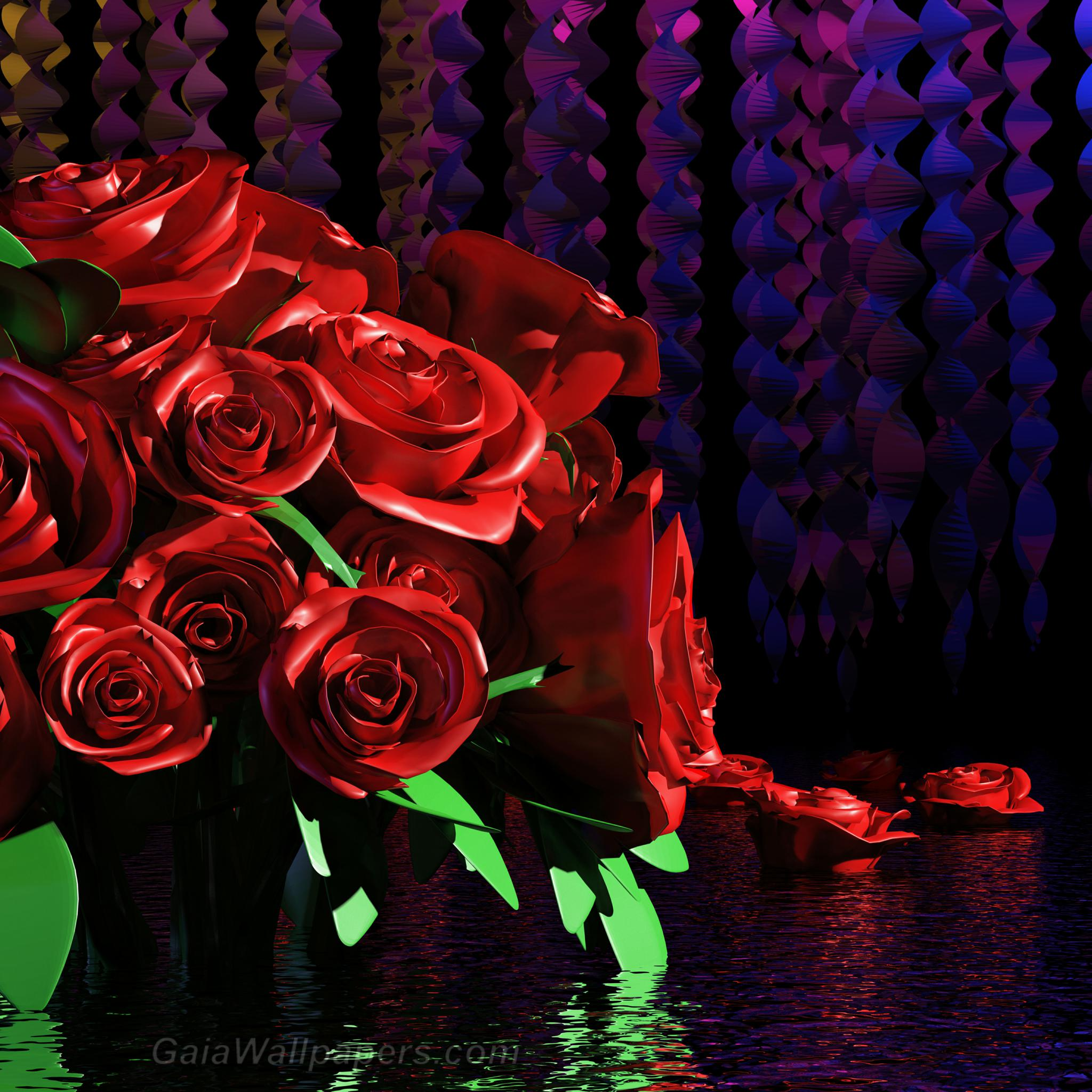 Peaceful roses in the calm energy space - Free desktop wallpapers