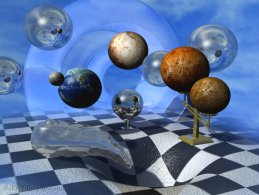 Digital universe aspired in black hole desktop wallpapers
