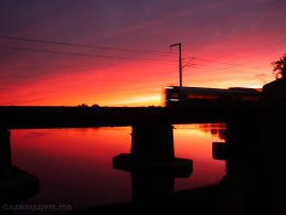 Train at sunset desktop wallpapers