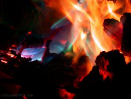 Fire blue, green, yellow, orange and red desktop wallpapers