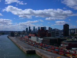 Old Port of Montreal seen from the Jacques Cartier Bridge desktop wallpapers