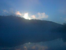 Foggy sunrise desktop wallpapers