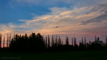 Maisonneuve Park at the end of the day desktop wallpapers