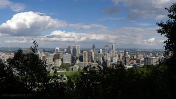 Montreal downtown seen from Mount Royal desktop wallpapers