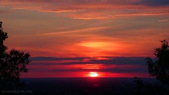 Sunset over Montreal West desktop wallpapers