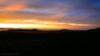 Late sunset over the countryside of Kamouraska desktop wallpapers
