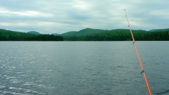 Cloudy fishing day at Mont-Tremblant National Park desktop wallpapers