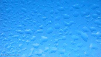 Sky seen through the dew of a window desktop wallpapers