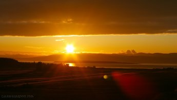 Intense sunset sun on Kamouraska desktop wallpapers