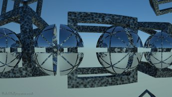 Sphères de miroir de haute technologie dans le ciel fonds d'écran gratuits