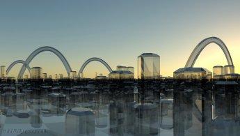Forêt de verre hexagonal fonds d'écran gratuits