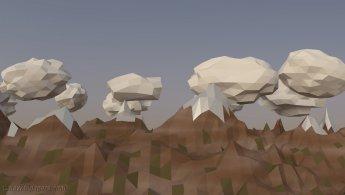 Chaine de montagnes virtuelle fonds d'écran gratuits
