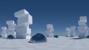 Gratte-ciels virtuels dans leur simplicité fonds d'écran gratuits