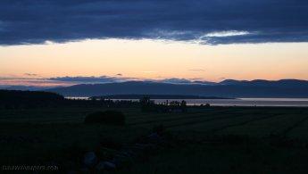 St-Lawrence River at dusk desktop wallpapers