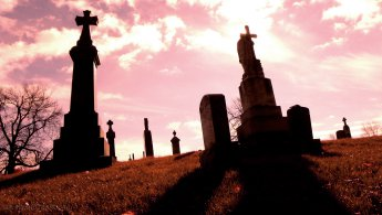 Critical moment in the cemetery desktop wallpapers
