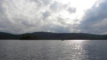 Family fishing on the lake desktop wallpapers