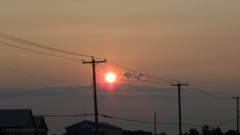 Sunset above the power lines desktop wallpapers