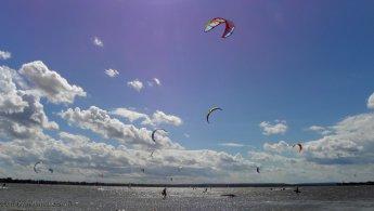 Kite day on Lake of Two Mountains desktop wallpapers