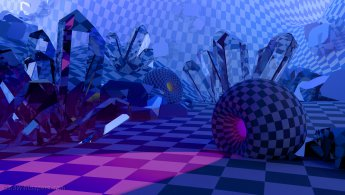 Mysterious light room of crystals desktop wallpapers