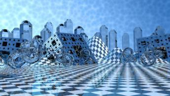 Métal et verre dans une dimension éthérée structurée fonds d'écran gratuits