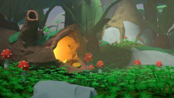 Trésor caché dans une forêt magique fonds d'écran gratuits