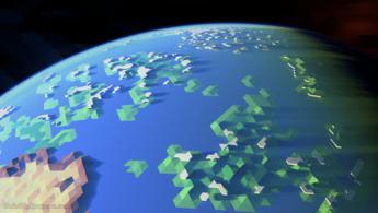 Terre polygonale dans l'espace fonds d'écran gratuits