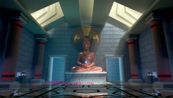 Avatar dans son temple magnifique fonds d'écran gratuits