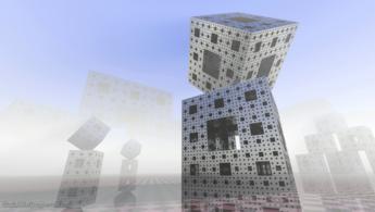 World of Menger sponges desktop wallpapers